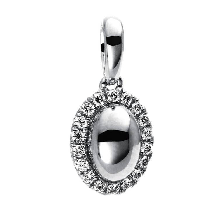 14 kt fehérarany medál 18 gyémánttal 3D227W4-1
