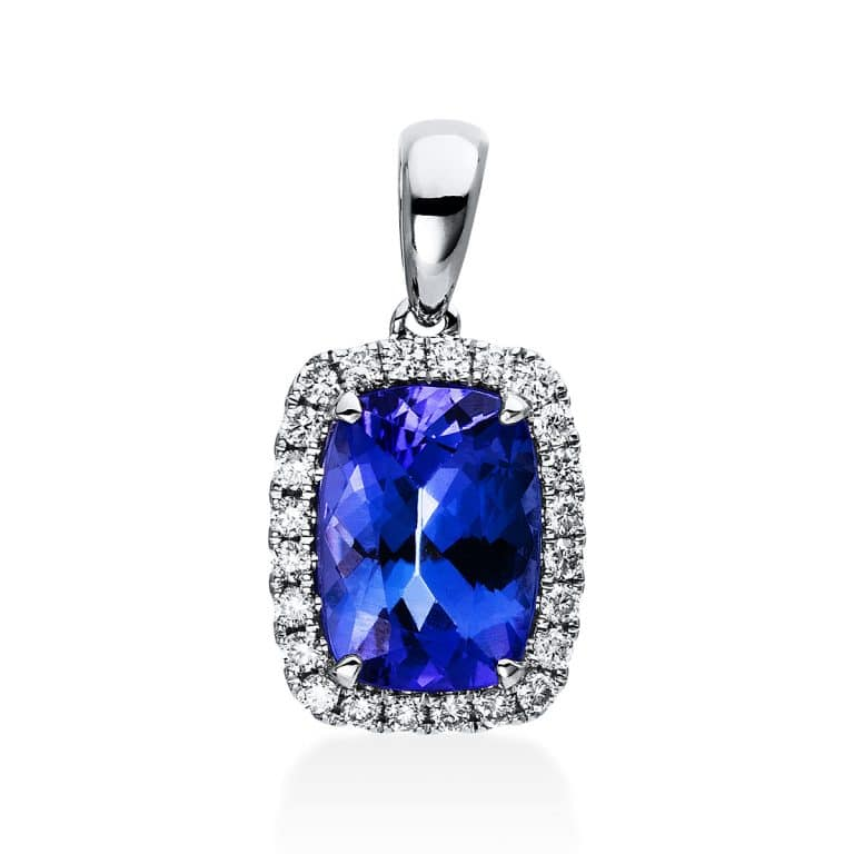 14 kt fehérarany medál 23 gyémánttal