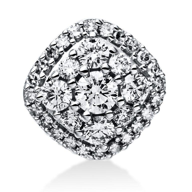 14 kt fehérarany medál 33 gyémánttal 3E029W4-1