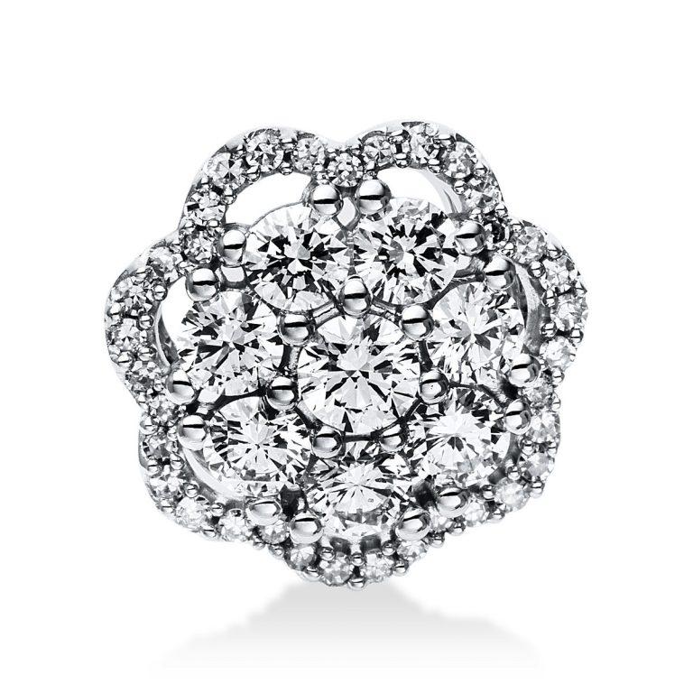 14 kt fehérarany medál 43 gyémánttal 3E038W4-1