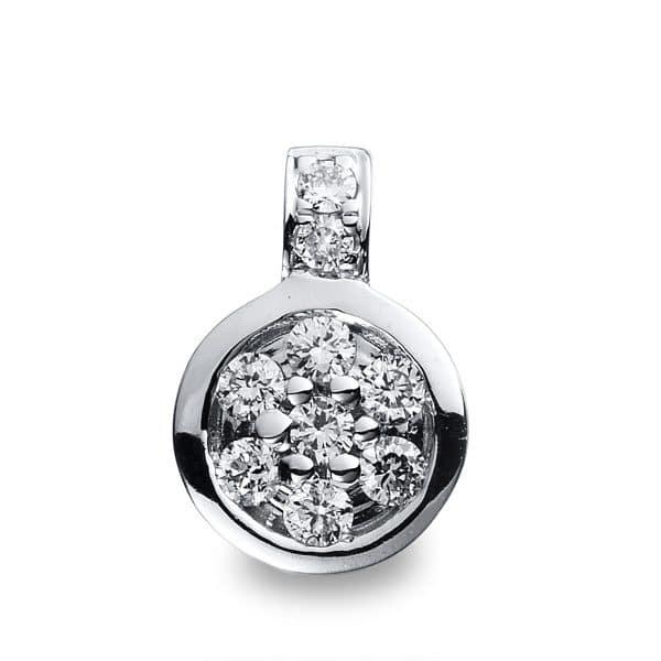 14 kt fehérarany medál 9 gyémánttal 3B228W4-1