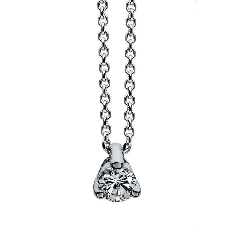14 kt fehérarany nyaklánc 1 gyémánttal 4A019W4-1