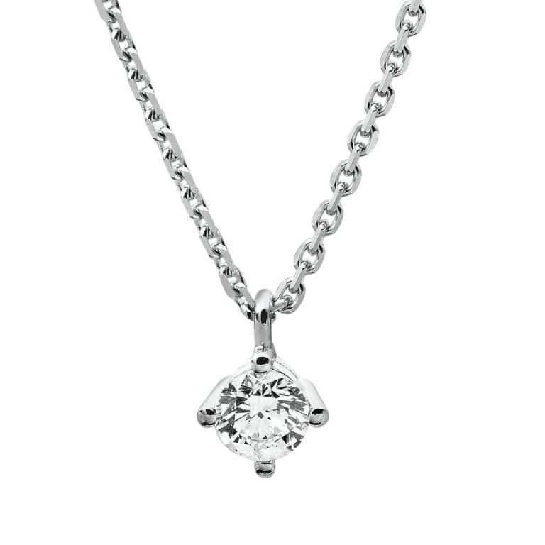 14 kt fehérarany nyaklánc 1 gyémánttal 4A308W4-4