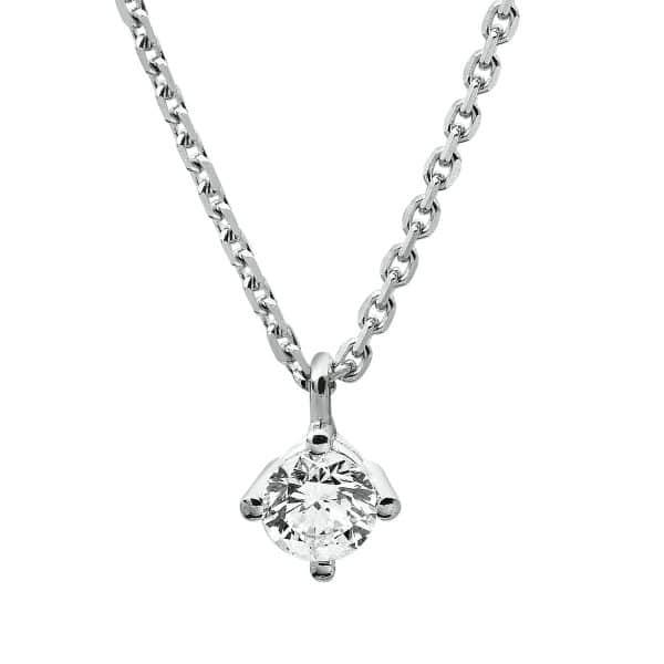 14 kt fehérarany nyaklánc 1 gyémánttal 4A308W4-5