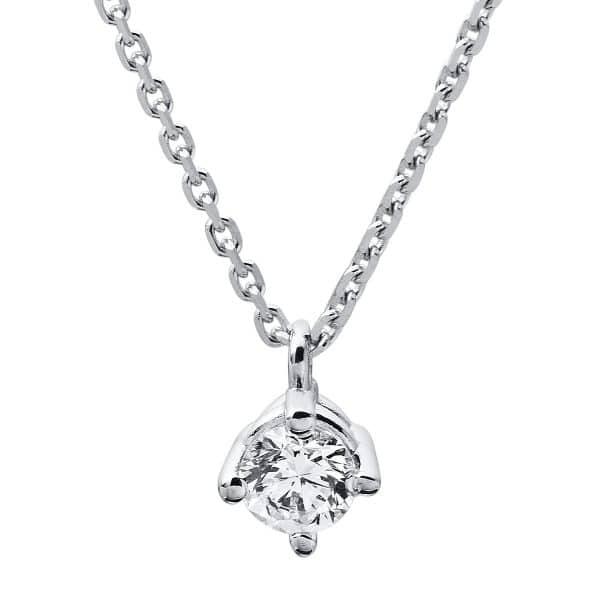 14 kt fehérarany nyaklánc 1 gyémánttal 4A309W4-2