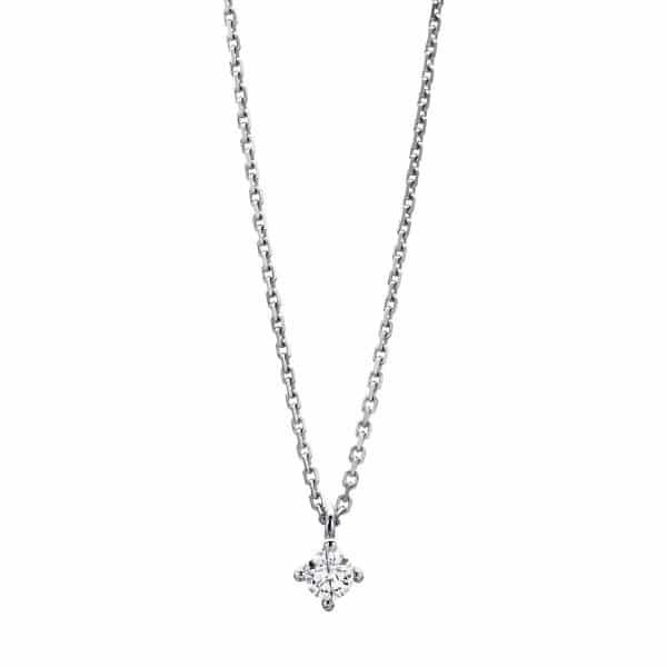 14 kt fehérarany nyaklánc 1 gyémánttal 4A309W4-7