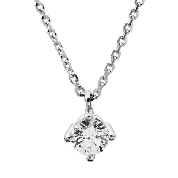 14 kt fehérarany nyaklánc 1 gyémánttal 4A310W4-3