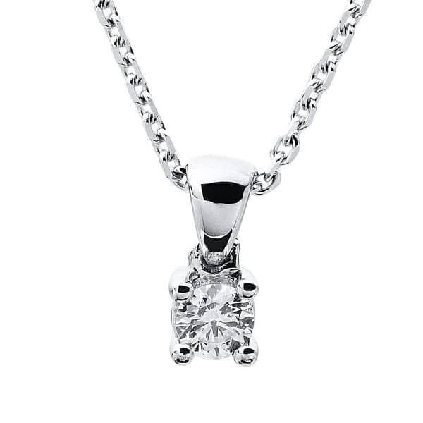14 kt fehérarany nyaklánc 1 gyémánttal 4A315W4-3