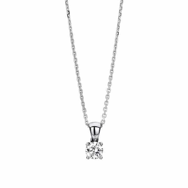 14 kt fehérarany nyaklánc 1 gyémánttal 4A327W4-1
