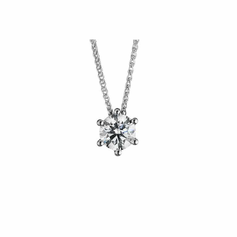 14 kt fehérarany nyaklánc 1 gyémánttal 4A347W4-1