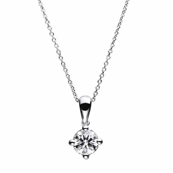 14 kt fehérarany nyaklánc 1 gyémánttal 4A785W4-1