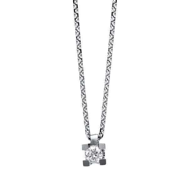 14 kt fehérarany nyaklánc 1 gyémánttal 4B594W4-1