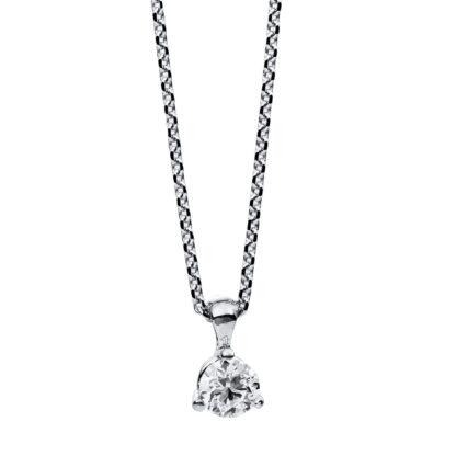 14 kt fehérarany nyaklánc 1 gyémánttal 4B605W4-1