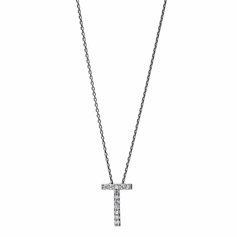 14 kt fehérarany nyaklánc 12 gyémánttal 4F752W4-1