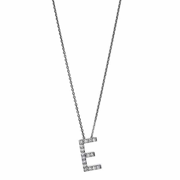 14 kt fehérarany nyaklánc 16 gyémánttal 4F740W4-1