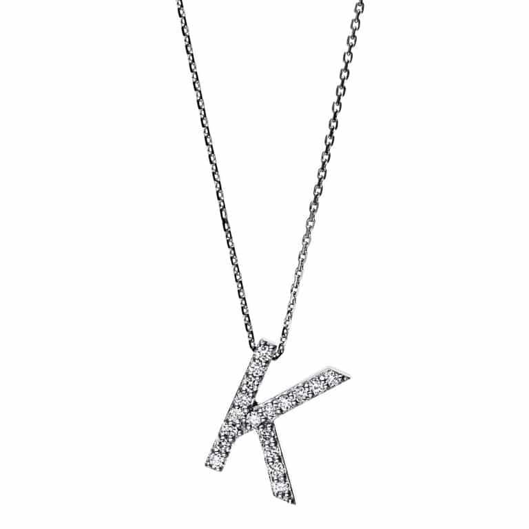 14 kt fehérarany nyaklánc 18 gyémánttal 4F746W4-1