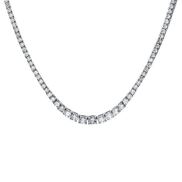 14 kt fehérarany nyaklánc 185 gyémánttal 4F449W4-1