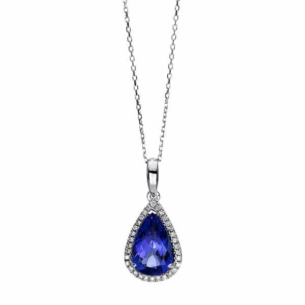 14 kt fehérarany nyaklánc 31 gyémánttal