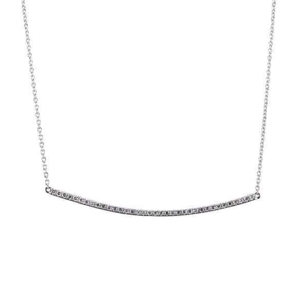 14 kt fehérarany nyaklánc 36 gyémánttal 4A004W4-4