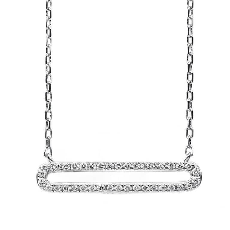 14 kt fehérarany nyaklánc 38 gyémánttal 4B838W4-1