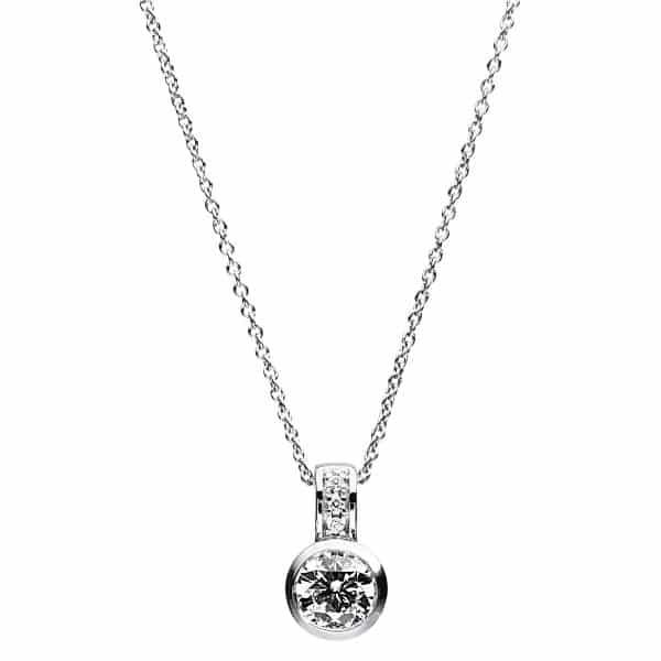 14 kt fehérarany nyaklánc 4 gyémánttal 4A773W4-1