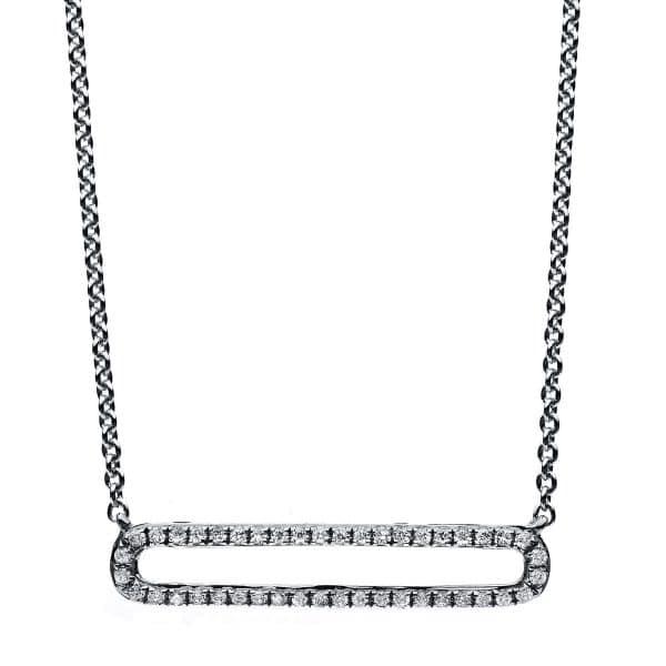 14 kt fehérarany nyaklánc 44 gyémánttal 4B028W4-2
