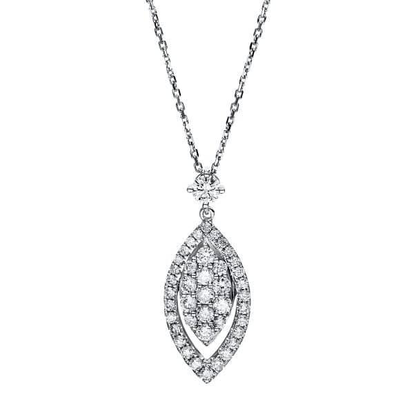 14 kt fehérarany nyaklánc 44 gyémánttal 4F520W4-1