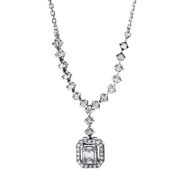 14 kt fehérarany nyaklánc 46 gyémánttal 4F586W4-1