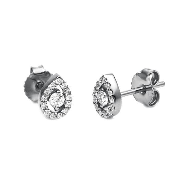 14 kt fehérarany steckeres 28 gyémánttal 2G239W4-3