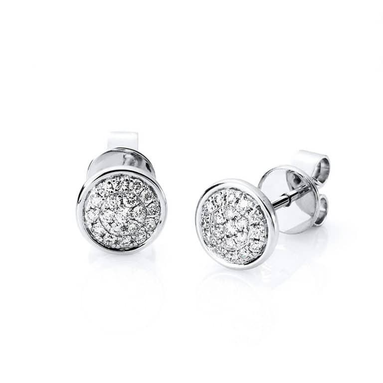 14 kt fehérarany steckeres 38 gyémánttal 2A288W4-2