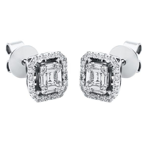 14 kt fehérarany steckeres 62 gyémánttal 2J290W4-1