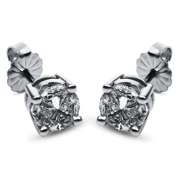 14 kt fehérarany steckeres 8 gyémánttal 2H563W4-1
