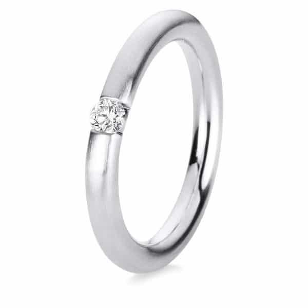 14 kt fehérarany szoliter 1 gyémánttal 1A043W453-4