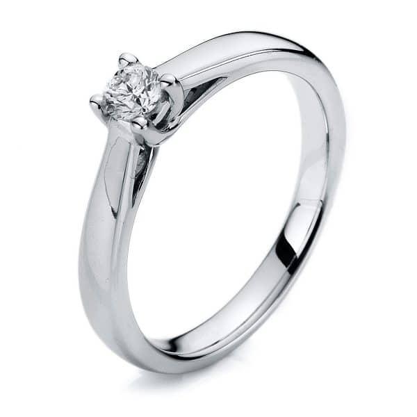 14 kt fehérarany szoliter 1 gyémánttal 1A114W454-1