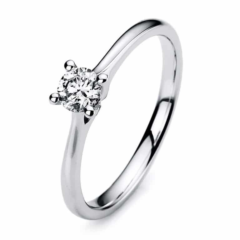 14 kt fehérarany szoliter 1 gyémánttal 1A173W453-1