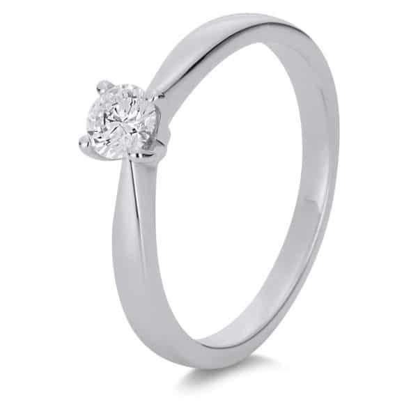 14 kt fehérarany szoliter 1 gyémánttal 1A176W454-3