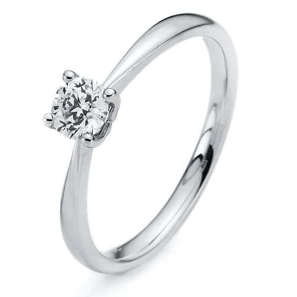 14 kt fehérarany szoliter 1 gyémánttal 1A177W454-1