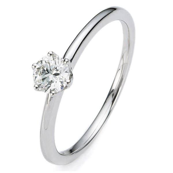 14 kt fehérarany szoliter 1 gyémánttal 1A277W454-4