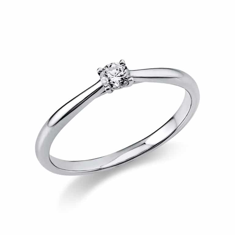 14 kt fehérarany szoliter 1 gyémánttal 1A288W451-8