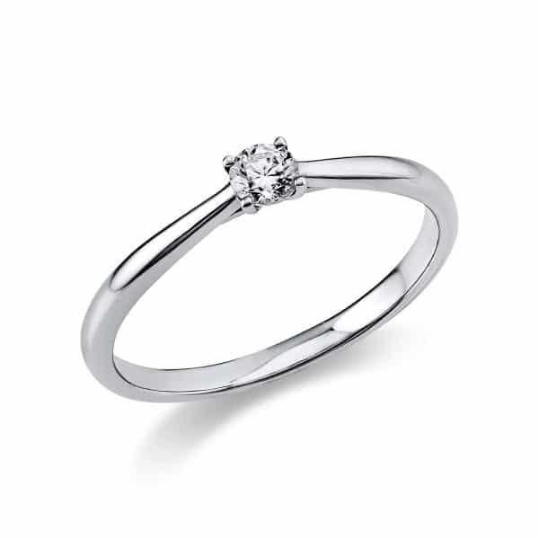 14 kt fehérarany szoliter 1 gyémánttal 1A288W455-11