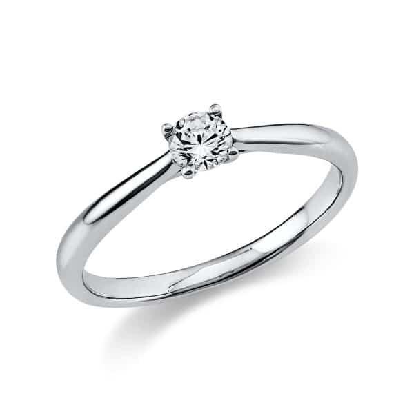 14 kt fehérarany szoliter 1 gyémánttal 1A289W453-13