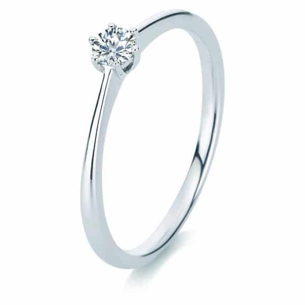 14 kt fehérarany szoliter 1 gyémánttal 1A329W456-1