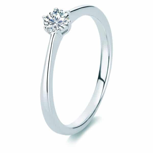 14 kt fehérarany szoliter 1 gyémánttal 1A331W456-1
