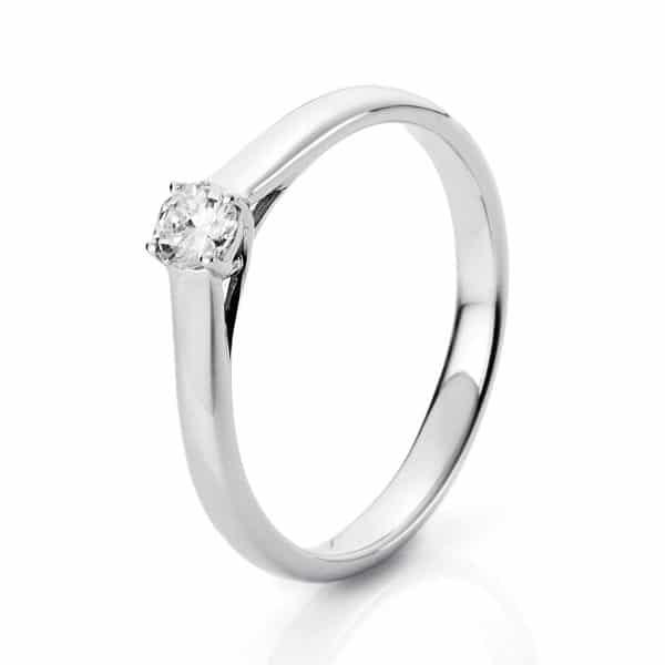 14 kt fehérarany szoliter 1 gyémánttal 1A441W451-2