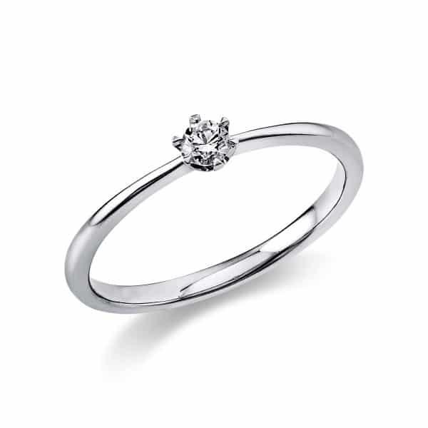 14 kt fehérarany szoliter 1 gyémánttal 1C477W451-4