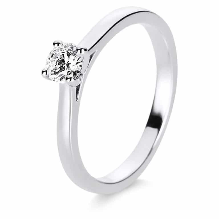 14 kt fehérarany szoliter 1 gyémánttal 1E200W454-2