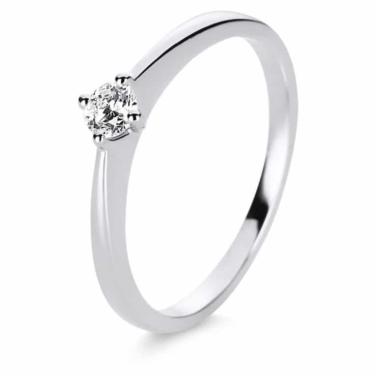 14 kt fehérarany szoliter 1 gyémánttal 1E206W456-2