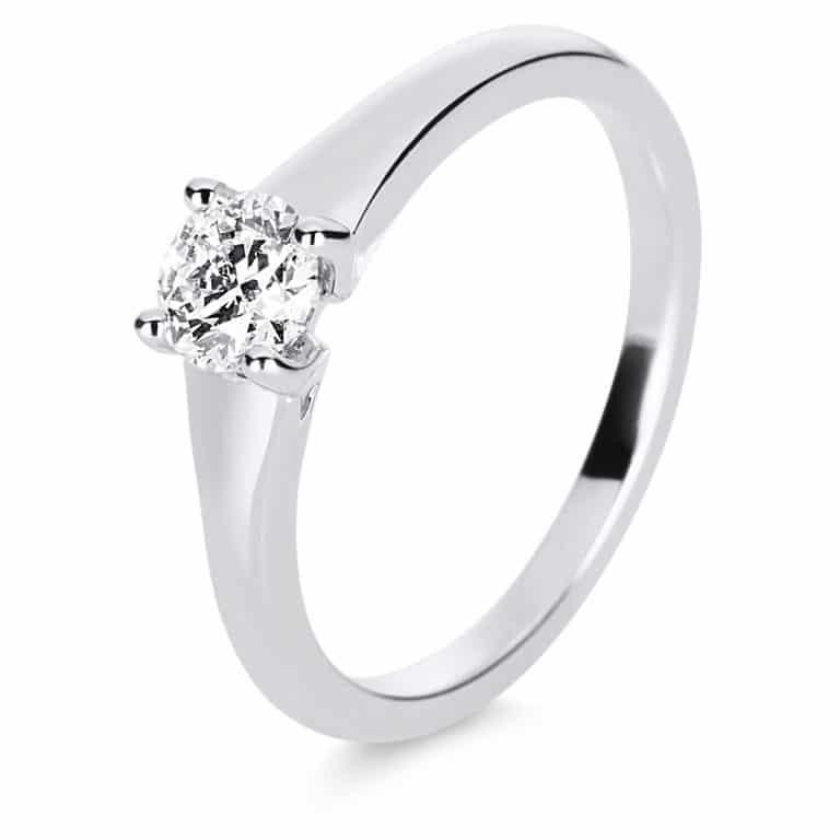 14 kt fehérarany szoliter 1 gyémánttal 1E220W454-1