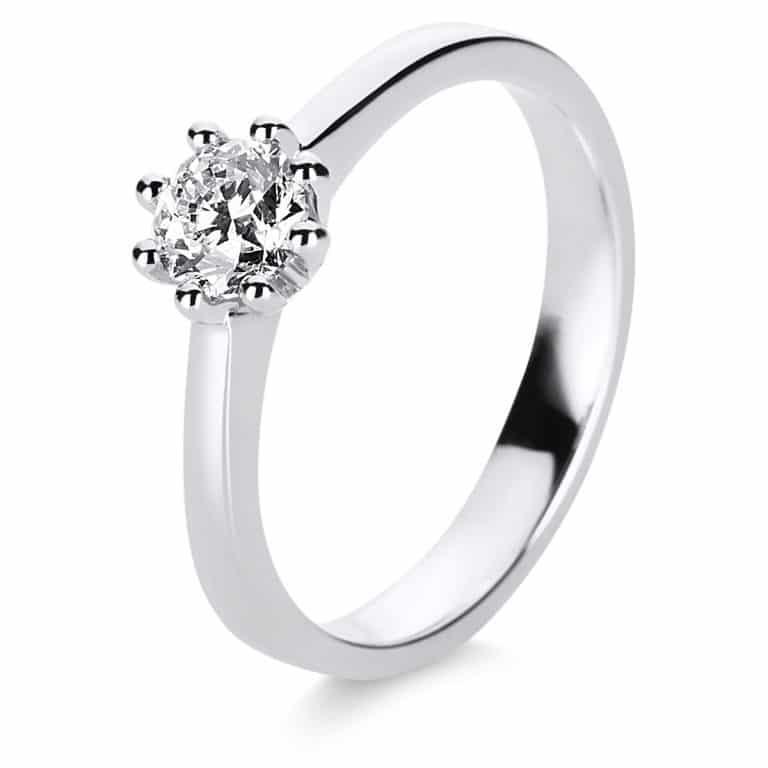14 kt fehérarany szoliter 1 gyémánttal 1E230W454-1