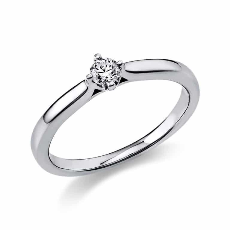 14 kt fehérarany szoliter 1 gyémánttal 1E234W456-1